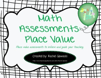 Math Assessments: Place Value