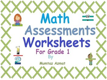 Math Assessments Worksheets for Grade 1 Common Core Aligned: