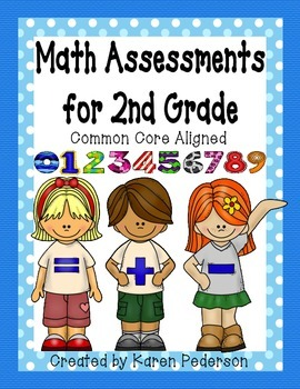 Math Assessments for 2nd Grade * COMMON CORE ALIGNED
