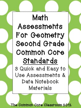 Math Assessments for Geometry Standards - 2nd grade- CCSS