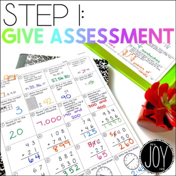 Math Assessments for IEPs, RtI, Data Collecting, Math Intervention, and Grouping
