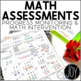 Math Assessments for IEPs, RtI, Data Collecting, Math Inte