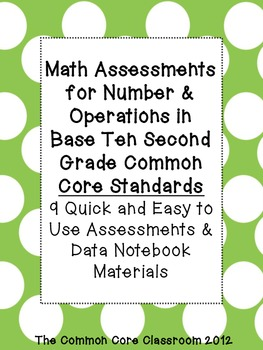 Math Assessments for Number & Operations in Base Ten Standards - 2nd grade- CCSS