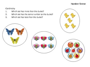 Math Assessments for JK students
