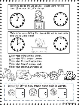 Assessments for kindergarten and first grade: Math concepts