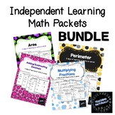Math Independent Learning Bundle Google Slides | Distance