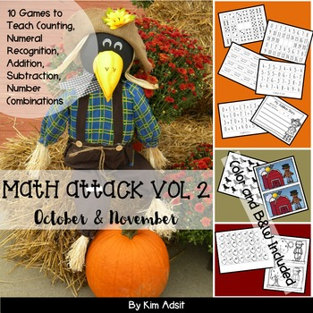 Number: Math Attack! Vol 2, Oct and Nov - Aligned with the