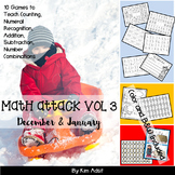 Number: Math Attack! Vol 3, Dec and Jan - Aligned with the Common Core