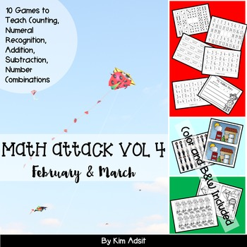 Number: Math Attack! Vol 4, Feb and Mar - Aligned with the