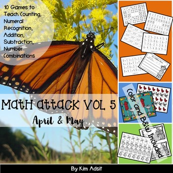 Number: Math Attack! Vol 5, Apr and May - Aligned with the Common Core