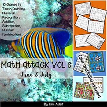 Number: Math Attack! Vol 6, June and July - Aligned with the Common Core
