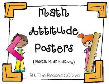 Math Attitude Posters (math kids edition)