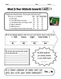 Math Attitude Survey (Beginning of the year activity)