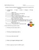 Math Attitude Survey