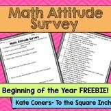 Math Attitude Survey *FREEBIE*