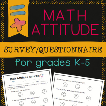 Math Attitude Survey Questionnaire