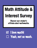 Math Attitude and Interest Survey for Elementary Students (Grades 2-5)