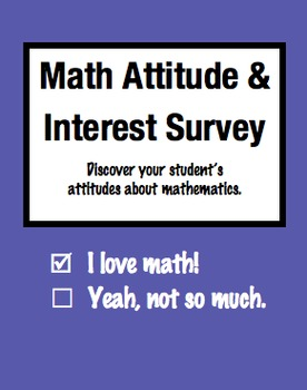 Math Attitude and Interest Survey for Elementary Students