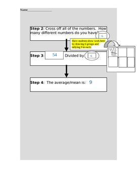 Math Average/Mean Graphic Organizer