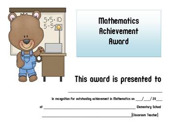Math Award