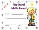 Math Award Certificate Boy #1