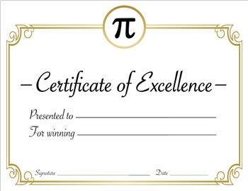 Math Award Certificate