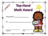 Math Award Certificate Girl #5