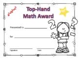 Math Award Certificate Girl #6