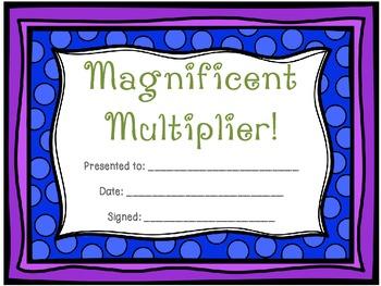 Math Award Certificates