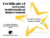 Math Award Certificates | Microsoft Publisher