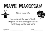 Math Award Certificates, Set of 20