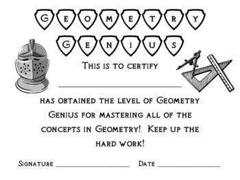 Math Award Certificates, Set of 20