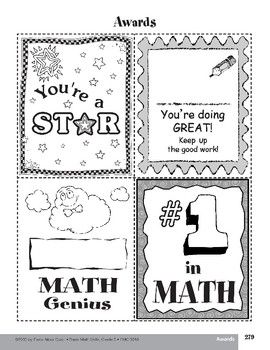 Math Award Forms and Practice Cards