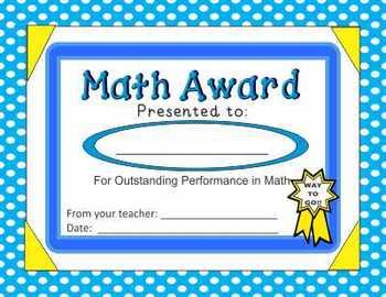 Awards (Math Awards) by Nita Marie (Already Printed)