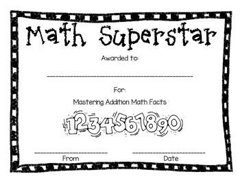Math Awards Pack