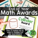 Math Awards Certificates for End of Year