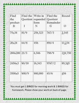 Math BINGO- Freebie!