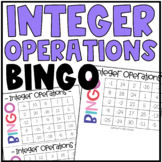 Integer Operations BINGO | All Operations Class Activity o