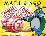 Math BINGO: Multiplication-Division-Roman-Numerals-Additio