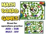 Math BOARD games - grades 1-6!