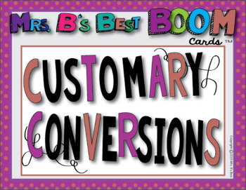 Math BOOM Cards: Converting Customary Measures