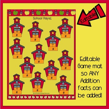 Addition BUMP Game FREEBIE {EDITABLE}