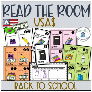 Back to School Math USA Money