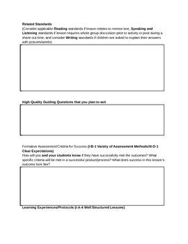 Math Backwards Lesson/Unit Design Template - Common Core Aligned