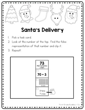 Math Bags for 1st Grade: Christmas Version! (10 Christmas Themed Math Centers)
