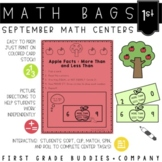Math Bags for 1st Grade: Fall Version! (10 Fall Themed Math Centers)