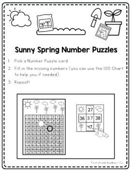 Math Bags for 1st Grade: Spring Version! (10 Spring Themed Math Centers)