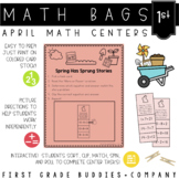 Spring Activities | Math Centers | Math Bags | 1st Grade