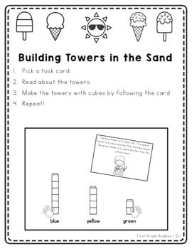 Math Bags for 1st Grade: Summer Version! (10 Summer Themed Math Centers)