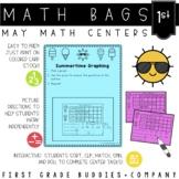 Summer Math Bags for 1st Grade: 10 Math Centers for Summer Activities